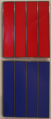 Four Red Panels and Four Blue Panels at the 2013 Armory Show Modern in NYC